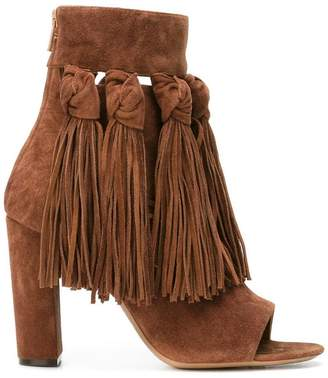 Chloé fringed open toe booties