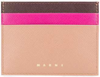 Marni colour blocked card holder