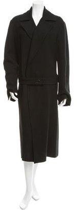 Yohji Yamamoto Belted Long Coat w/ Tags $675 thestylecure.com