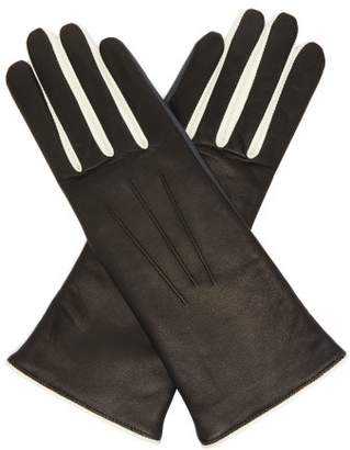 Isabel Marant Tri Tone Leather Gloves - Womens - Black