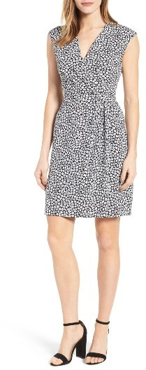 Anne Klein Women's Anne Klein Floral Print Draped Dress