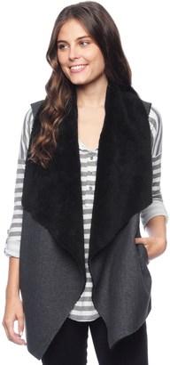 Keane Faux Sherpa Vest $228 thestylecure.com