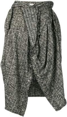Faith Connexion bouclé asymmetric ruffle skirt