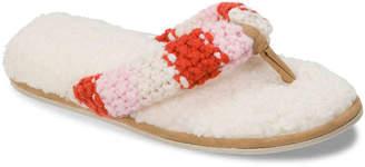 Dearfoams Chunky Stripe Thong Slipper - Women's