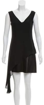 Cushnie et Ochs Silk & Leather Dress