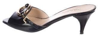 Prada Patent Slide Sandals