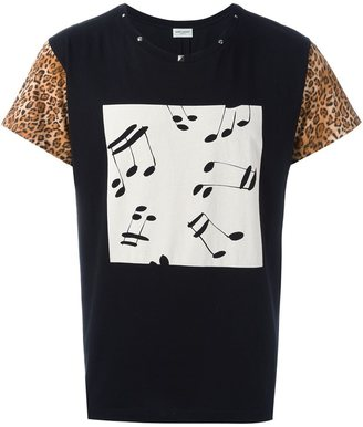 Saint Laurent printed front panel T-shirt $750 thestylecure.com