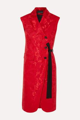 Ann Demeulemeester Grosgrain-trimmed Satin-jacquard Vest - Red