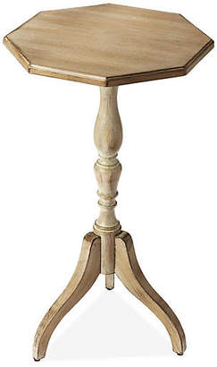 One Kings Lane Meyers Pedestal Side Table - Graywash