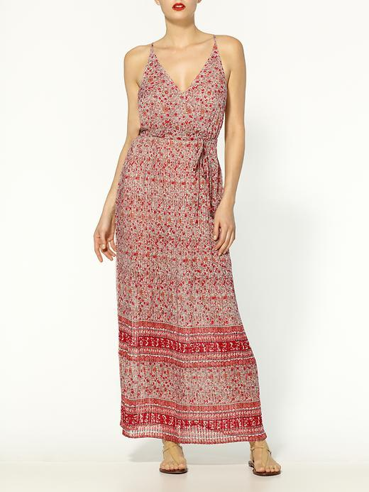 Joie Neptune Border Printed Pleated Silk Dress