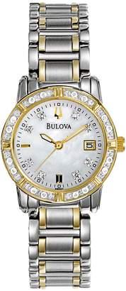 Bulova Women's Diamond Accented Calendar Watch, 26mm - 0.03 ctw