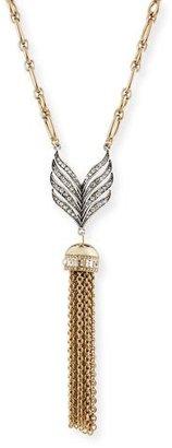 Lulu Frost Symmetry Tassel Pendant Necklace $295 thestylecure.com