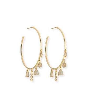 Tai Charm Dangle Hoop Earrings