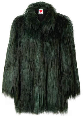 ce2026bde1 House of Fluff - Yeti Faux Fur Coat - Forest green