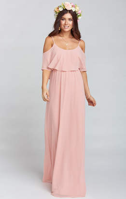 Show Me Your Mumu Caitlin Ruffle Maxi Dress ~ Rosebud Chiffon