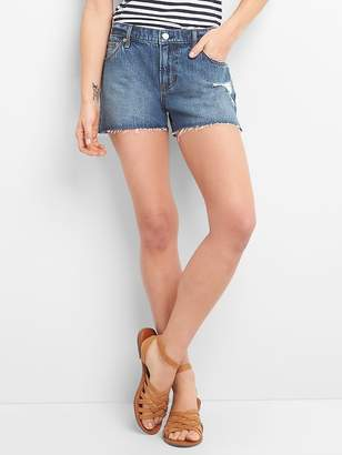 "Gap Mid Rise 3"" Denim Shorts with Distressed Detailing"