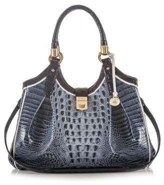 Brahmin 'Tri-Texture - Elisa' Leather Shoulder Bag - Blue $435 thestylecure.com