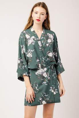 Azalea SS Floral Wrap Kimono Dress