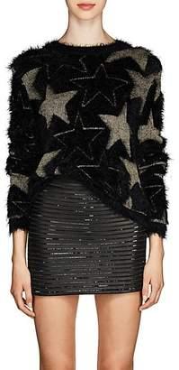Saint Laurent Women's Star-Pattern Sweater - Black