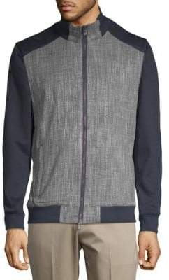 Vince Camuto Scratch Weave Bomber Jacket