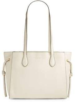 Donna Karan East and West Pebbled Leather Tote