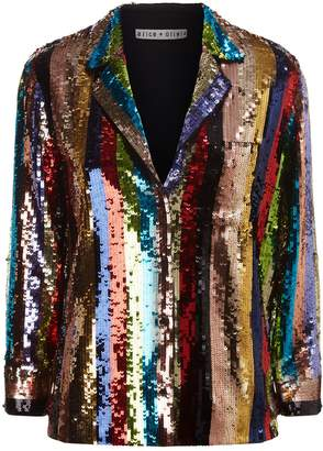 Alice + Olivia Keir Sequin Shirt