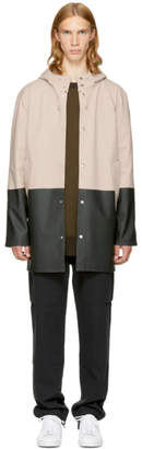 Stutterheim SSENSE Exclusive Beige and Black Stockholm Raincoat
