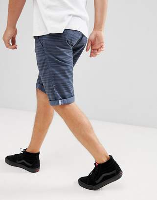 Esprit Slim Fit Low Rise Short With Drawstring In Stripe