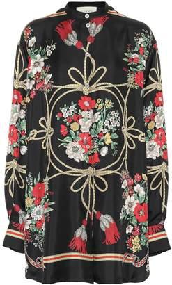 Gucci Floral oversized silk shirt