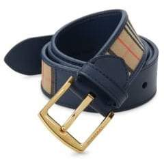 Burberry Plaid Belt