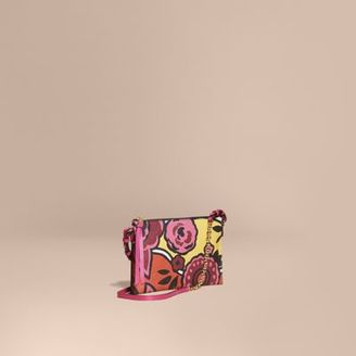 Burberry Floral Print Leather Clutch Bag $795 thestylecure.com