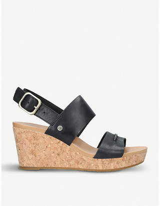 UGG Elena II leather wedge sandals