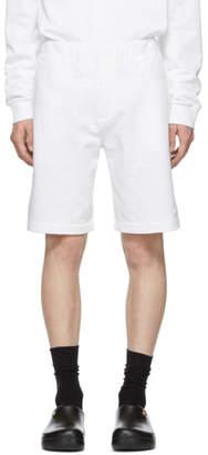 Kenzo White Nylon and Jersey Shorts