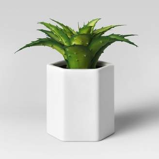 Alöe Project 62 Artificial Small Plant with White Pot
