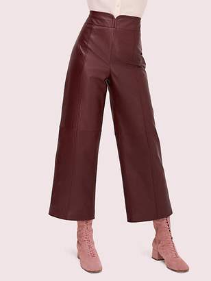 Kate Spade Cropped Leather Pant, Cherrywood - Size 0