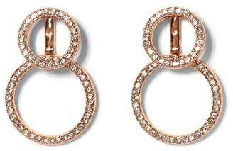 Vince Camuto Rose Goldtone Front-back Circle Earrings