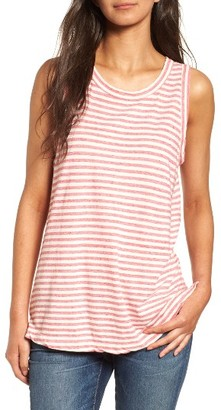 Women's Current/elliott The Muscle Tee Stripe Tank $128 thestylecure.com