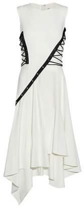 Jason Wu Lace-Up Asymmetric Pleated Crepe Dress