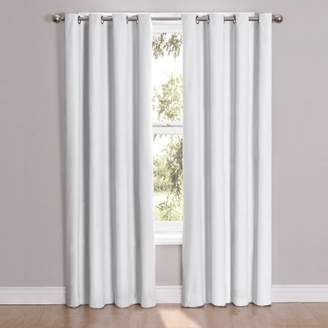 Eclipse Curtains Eclipse 12423052084WHI Cassidy 52-Inch by 84-Inch Blackout Grommet Single Window Curtain Panel