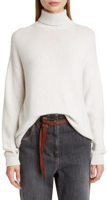Brunello Cucinelli Sequin Cashmere & Silk Turtleneck Sweater