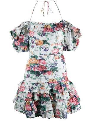 Zimmermann Allia Floral Mini Dress