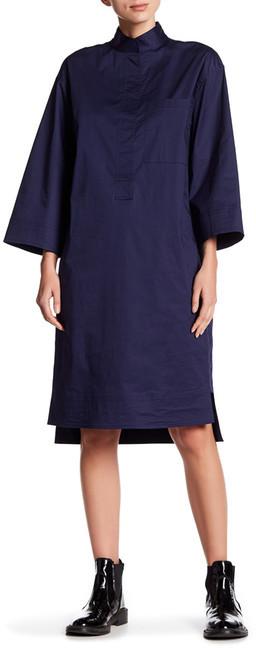 DKNYDKNY 3/4 Length Sleeve Mandarin Collar Shirtdress