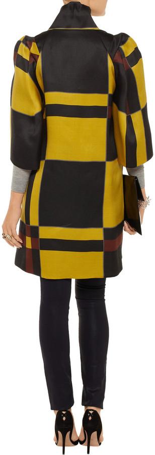 Marni Printed woven silk and wool-blend coat