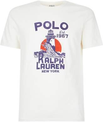 Polo Ralph Lauren Lighthouse Motif T-Shirt