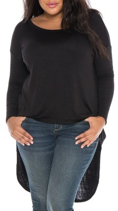 Plus Size Women's Slink Jeans High/low Top $49 thestylecure.com