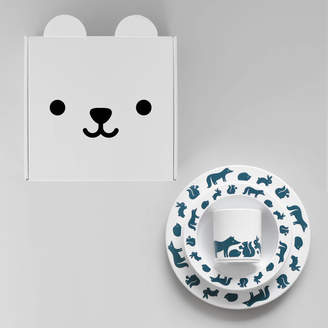 Buddy and Bear Woodland Animals Plate, Cup And Bowl Gift Set Ink