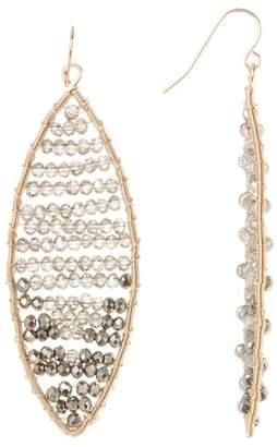 Natasha Accessories Bead Accent Oval Drop Earrings