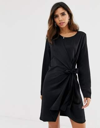 Vila faux wrap shift dress