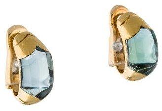 Bvlgari Bvlgari 18K Topaz Clip-On Earrings