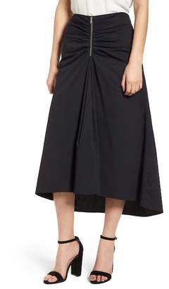 Trouve Ruched Front Midi Skirt